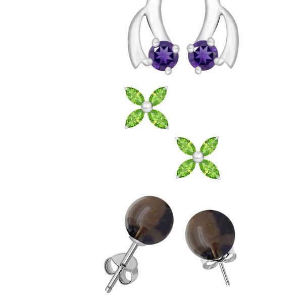 millenniumpaintingfl.com Earrings Jewelry Peridot Quartz,Flower ...