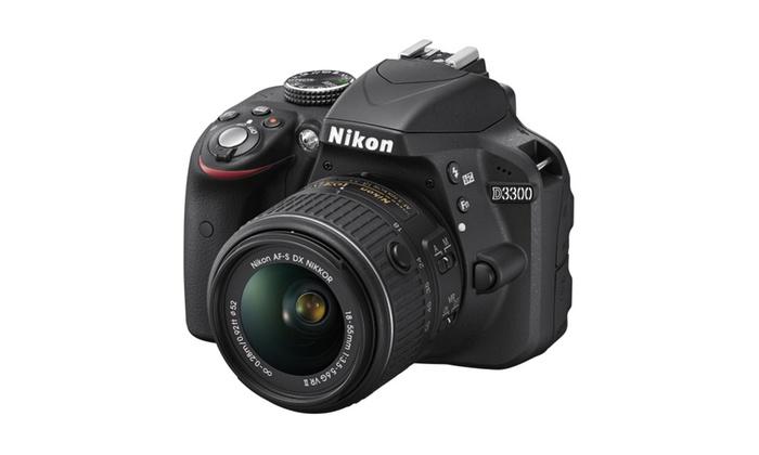 Nikon D3300 24.2MP 1080p DSLR Camera w/ 18-55mm VR II Lens Refurbished
