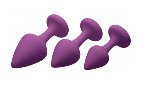 Purple Pleasures 3 Piece Silicone Anal Plugs 9cde26c1-fb0b-49f7-b16b-69d0719d7b30