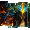 Never Ending - Large Abstract Canvas Art Print - 60x32 - 5 Panels