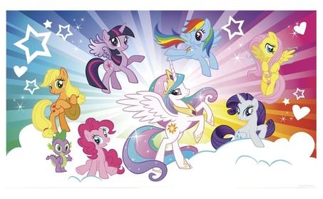 Roommates My Little Pony Cloud XL Chair Rail Prepasted Mural 6' x10.5' 89025133-0e41-4ee5-aab0-a126a0e0e132