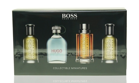 Hugo Boss Men's Fragrance Mini Gift Set (4-Piece)