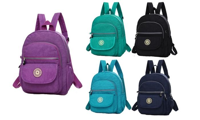 Women Mini Travel Backpack Nylon Waterproof Shoulder Bag Handbag School Rucksack