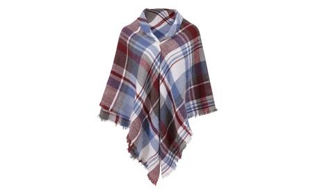"""Simplicity 55"""" x 55"""" Blanket Scarf Wrap Shawl Plaid Tassel Pashmina - White Grey(New) 8b58d70a-a8e4-4c42-ad2d-3e05448fcba0"""