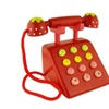 Baby Toys Strawberry Wooden Telephone Toys