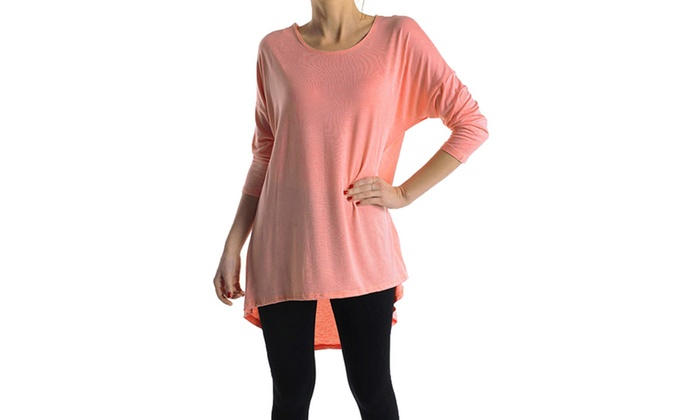 Azules Rayon Span High-Low Tunic ATP2211RS-5