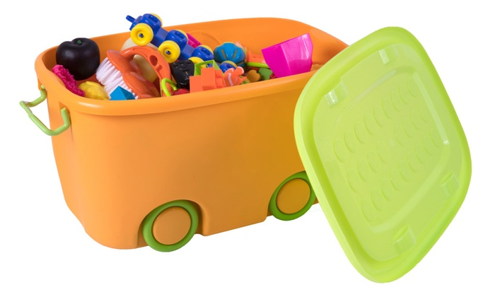 Stackable Toy Storage Box With Wheels ...