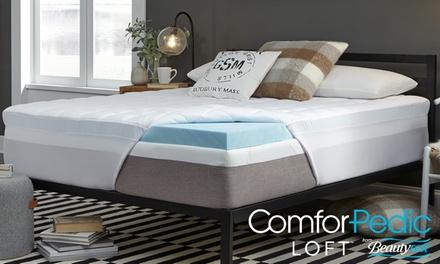 Comforpedic Loft from BeautyRest 4.5'' Gel Memory Foam and Fiber Topper