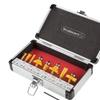 Router Bit Set, Carbide Tipped Router Bits w/ Aluminum Storage Case- 8 Piece Set