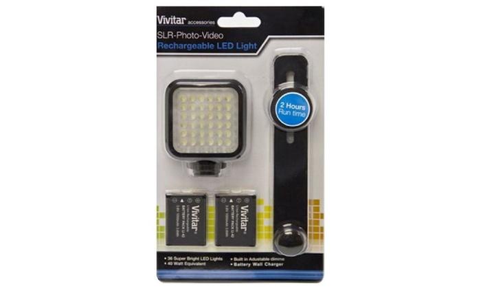Vivitar Slr Photo And Video Rechargeable Led Light - Viv-vl-400