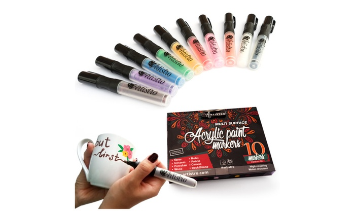 up to 58 off on acrylic paint markers for roc groupon goods