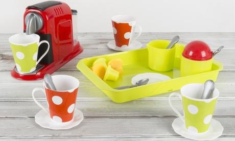 Hey! Play! Coffeemaker Pretend Kitchen Appliance Set (21-Piece) photo