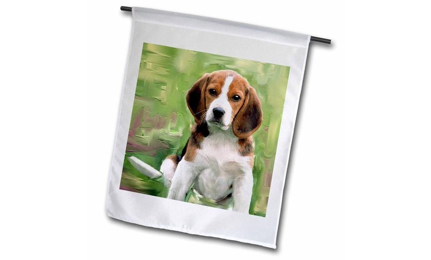 Garden Flag Beagle Puppy, Beagle Garden Flag