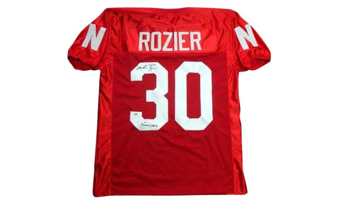 finest selection aea4e 77c15 Autographed Mike Rozier Nebraska Cornhuskers Red Custom Jersey