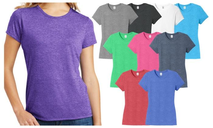2f8ef54e9b9 Ladies Plus Size Tri-Blend Crewneck T-Shirt Womens Tee ...