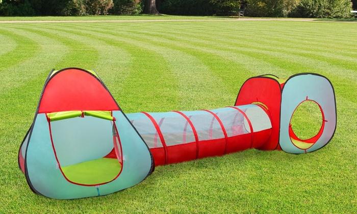 Kidsu0027 Pop-Up Tent Cube and Tunnel Kidsu0027 Pop- ... & Up To 72% Off on Kidsu0027 Tent Cube and Tunnel   Groupon Goods