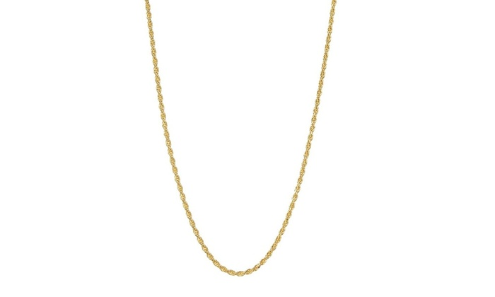 a3068e8f07102 14K Gold 1.5mm Twisted Rope Chain Necklace by Moricci | Groupon