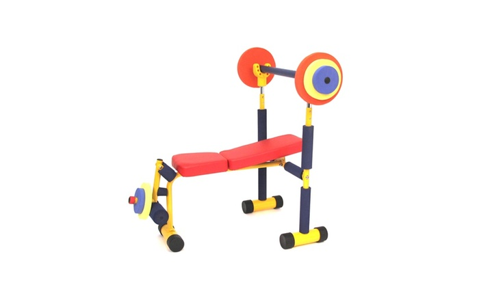 Fun and fitness for kids weight bench groupon Kids weight bench