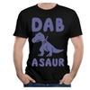 Men's Funny T-Rex Dabbing, Dab, Dab On Em Look At Me Dab T-shirt Black
