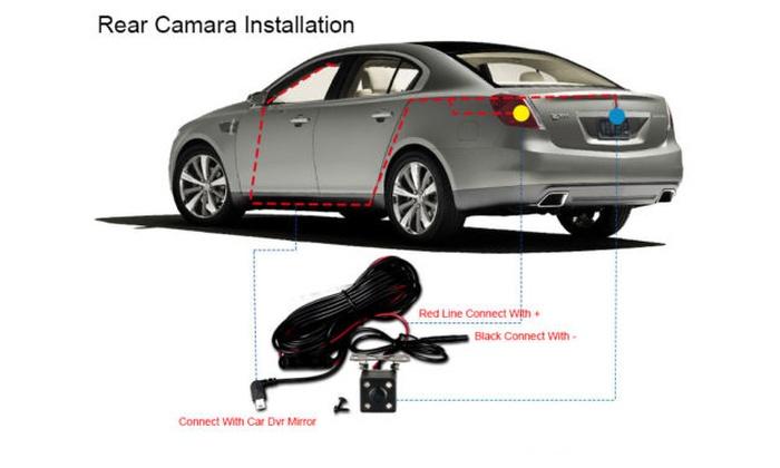 4.3 1080P Dual Lens Car Auto DVR Mirror Dash Cam Recorder With Rear Camera Kit