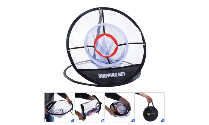 New Portable 20'' Golf Training Chipping Net Hitting Aid Practice Bag