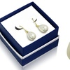 Pear Shape Pearl Hanging Earrings in 18K Gold Plated with a Gift Box