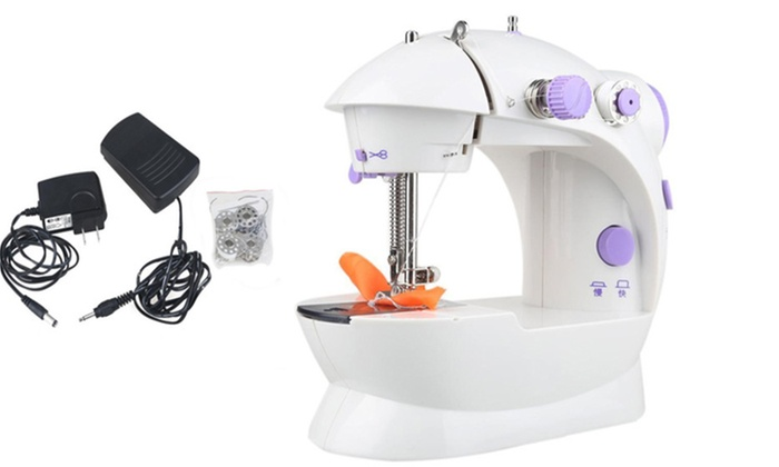Up To 40% Off On Excellent Handheld Sewing Mac Groupon Goods Impressive How To Thread Handheld Sewing Machine