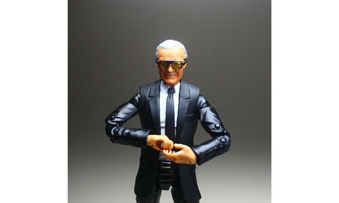 """Marvel Legends Custom Excelsior Stan Lee Head Sculp Suited 6/"""" Action Figure Set"""