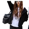 Womens Hooded Oblique Zipper Hoodie Sweatshirt Jacket Coat Outwear