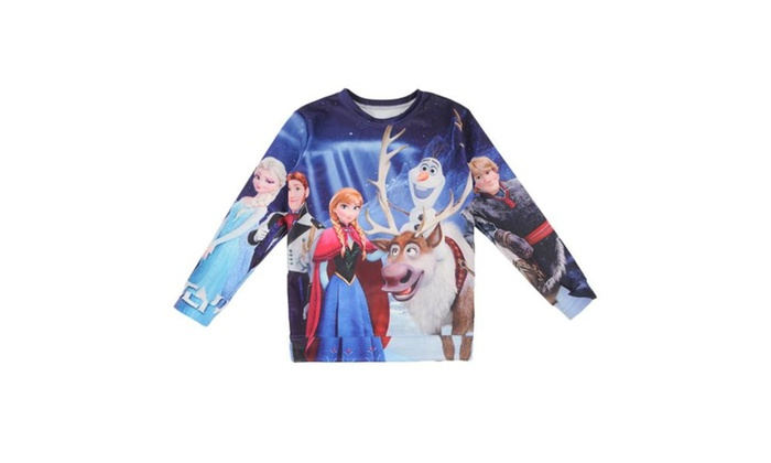 Women's Casual Cartoon Prints Ribbed Hem Sweatshirt – As Picture / One Size