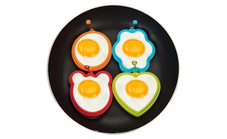 Pack Of Four Nonstick Silicone Fried Egg Molds 67c0c679-6270-42a4-bdca-cf0c22072b82
