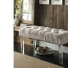 Odette Modern Upholstered Acrylic Bench