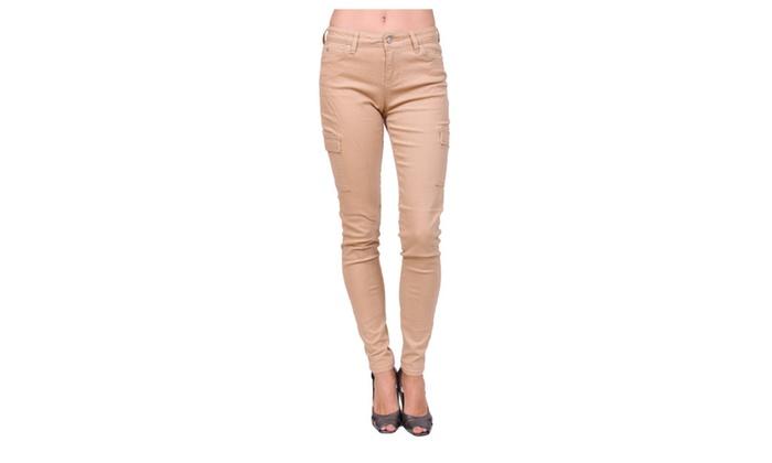 Denim Market: Celebrity Pink Jeans Mid Rise Tan Skinny Jeans Cargo PocketsCJ21152D28