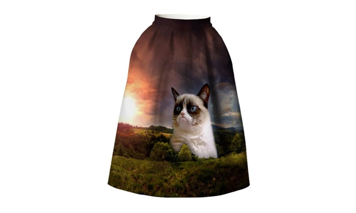 Giant Cat Forest High Waist Umbrella Skirt BSQ 028