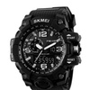 LED And Pointer Display 50M Waterproof Stopwatch Sports Watch