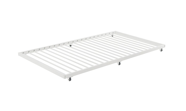 Walker Edison Bt40tbwh Twin Size Roll Out Trundle Bed Frame