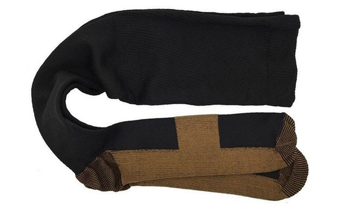 349391c0ba Knee High Pain Relief Copper Threaded Compression Copper Socks | Groupon