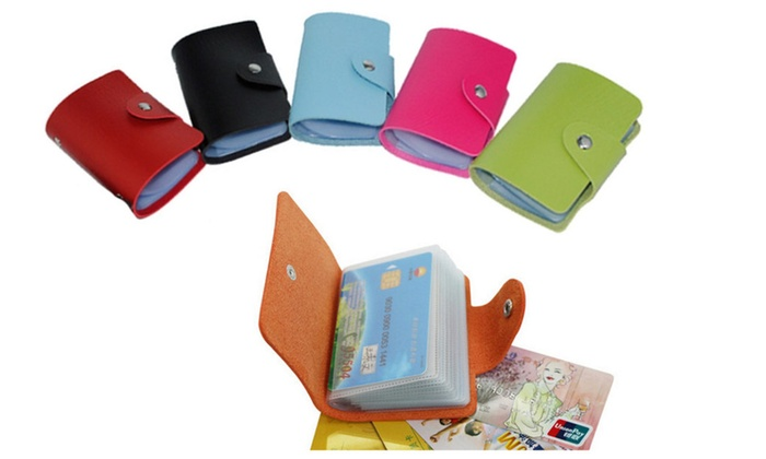 Colorful Business and Credit Card Holder