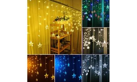 3.5M 96 LED Xmas Star Shaped String Lights Wedding Christmas Curtain Decor