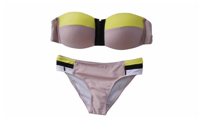 Women's  Zipper Bikini Sets