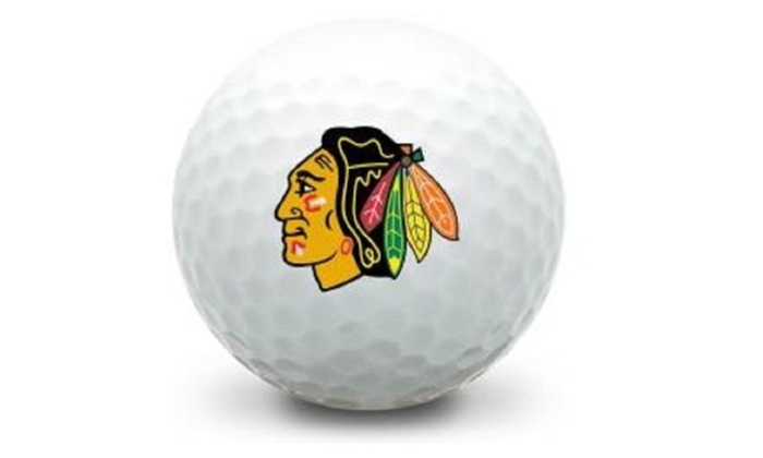 Recycled Titleist Pro V1 Chicago BlackHawks Mint Golf Balls (36-Pack)