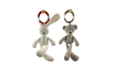 cute Baby Crib Stroller Toy Rabbit Bear Soft Plush Doll Hanging Ring 9861c7f5-8fa1-4c8c-af10-57e004926afd