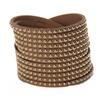Fashion Long leather Multi - Layer Wrap bracelets