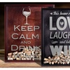 Etched Wine Cork Holder With Your Choice of Quote