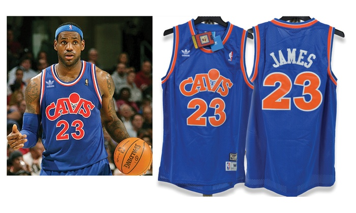 size 40 6670e 1ee26 Lebron James Cleveland Cavaliers Throwback Blue Jersey (Adult Medium)