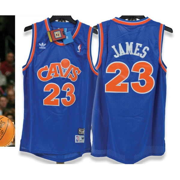 bde16cf6f Lebron James Cleveland Cavaliers Throwback Blue Jersey (Adult Medium) |  Groupon