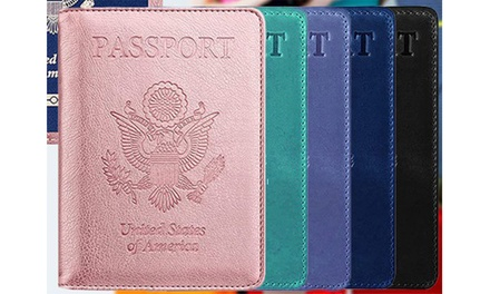 RFID Multi-function Leather Passport and CDC Vaccination Card Slot Was: $39.99 Now: $4.99