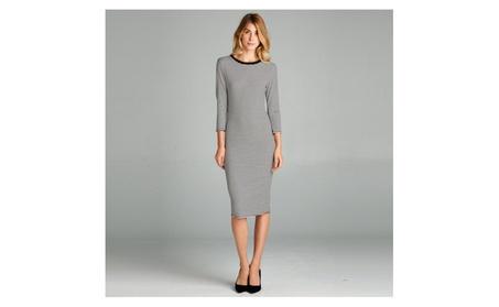 Ribbed Midi Dress 3aa61609-09bb-41b7-8900-ee43220f2295