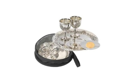 Holy Land Gifts 014063 Commun Set Silverplated Cups Plates With Bag 90a4d948-3c19-49be-a201-3558dd4f0423