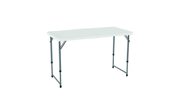 Super Camping And Utility Folding Table 4 Ft White Caraccident5 Cool Chair Designs And Ideas Caraccident5Info